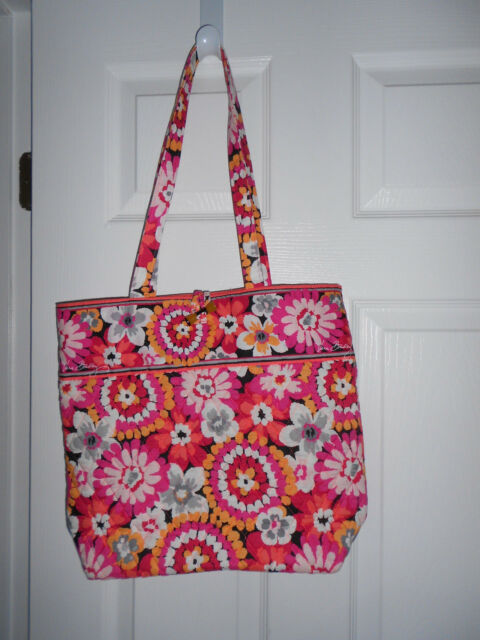 Vera Bradley Pixie Blooms Tote Bag w/ Tortoiseshell Toggle Closure Floral NWOT