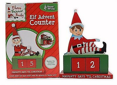 Christmas Counter.Wooden Elf Advent Counter Christmas Countdown Festive Xmas Fun Decoration 8973230042 Ebay