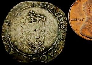 V473: Henry VIII Hammered Silver Groat, Canterbury Mint, Posthumous, Spink 2408