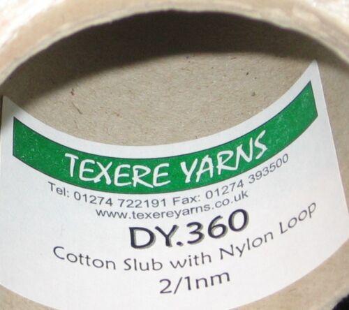 100 g Cône crème coton flammé avec Nylon Boucle Fil Double Tricot DY360 laine