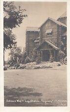 Entrance Wing C Log Chateau Seigniory Club MONTEBELLO Quebec 1944 ASN RPPC 1637