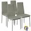 miniatura 5 - Set 4 sedia tavolo per sala da pranzo cucina eleganti moderne robusto ecopelle