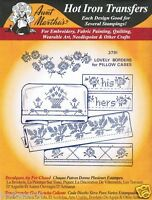 Lovely Borders Aunt Martha's Hot Iron Cross-Stitch Embroidery Transfer #3791
