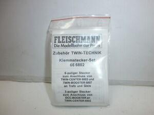 Fleischmann-Spur-H0-Twin-Technik-Klemmstecker-Set-66-6802-fuer-6802-6807-OVP