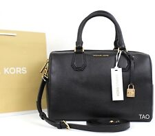Item 4 Michael Kors Mercer Medium Duffle Satchel Bag Crossbody Handbag Black New Nwt