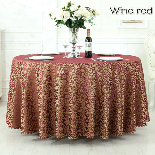 Table ronde tissu jacquard polyester Nappes Mariage Fête Hotel Table Cover