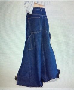 f023af11e Urban Outfitters BDG Women's Denim Skater Maxi Skirt Size Medium   eBay