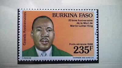 Afrika Briefmarken Burkina Faso 1988 Martin Luther King Nobelpreis Frieden 1964 Postfrisch