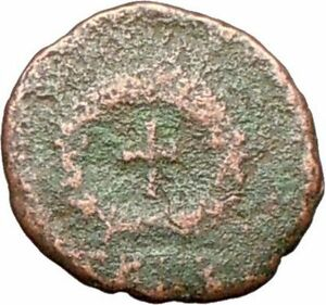 THEODOSIUS-II-425AD-Authentic-Ancient-Roman-Coin-CROSS-within-wreath-i28020