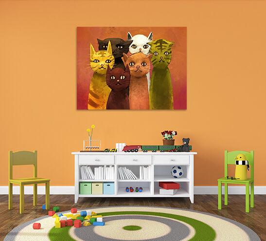 3D Farb Katze 687 Fototapeten Wandbild BildTapete AJSTORE DE Lemon