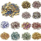 New Acrylic Plated Spacer Loose Beads 8 mm Making Jewelry Wholesale Lot Grade