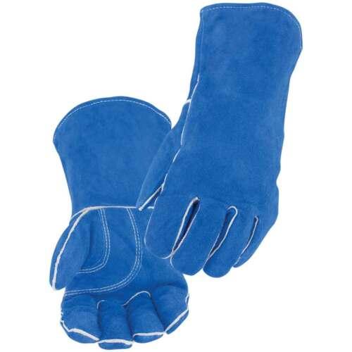 Black Stallion 113 Blue Value Split Cowhide Stick Welding Gloves Large