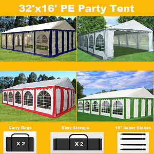 Image is loading 32-039-x16-039-PE-Party-Tent-Color-  sc 1 st  eBay & 32u0027x16u0027 PE Party Tent Color Tents - Heavy Duty Carport Canopy ...