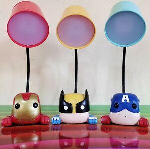Funko Pop Marvel Novelty LED Lamps Wolverine Captain America Iron Man LOT