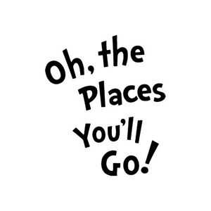 oh the places you ll go dr seuss vinyl decal multiple colors