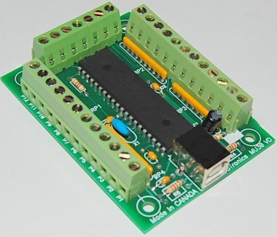 USB 30 Input Reprogrammable Keyboard Emulator Encoder- Active LOW