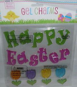 Easter Window Gel HAPPY EASTER W/TULIPS