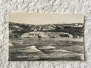 Postcard-showing-vintage-scene-of-Newquay-from-the-1960-039-s