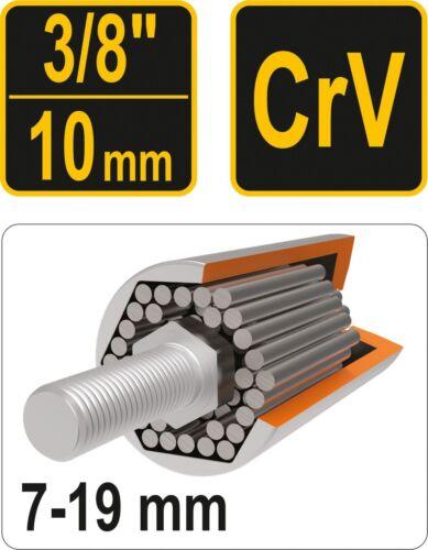 "Universal Sechskantnuss Innensechskant Multi-Einsatz Steckschlüssel 7-32mm 3//8/"""