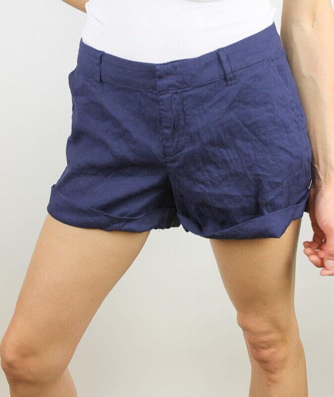 Joie Womens Alexandria B Linen Shorts Navy 8 New