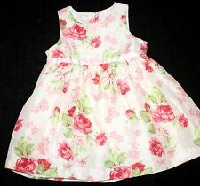NWOT JANIE AND JACK Spring Celebration Floral Silk Dress Girl Size 12-18 Months