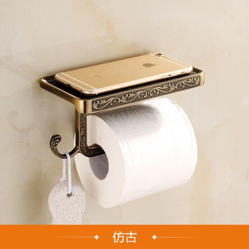 Vintage Toilettenpapierhalter Klopapierhalter WC-Zubehör Aufbewahrung Gusseisen