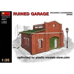1/35 RUINED GARAGE WWII DIORAMA MINIART 35511