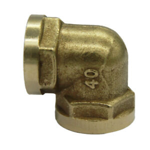 1 Inch Brass Barbed Double End Elbow Pipe Fitting Connector Threaded Coupler