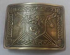 Men's Saltire Lion Rampant Kilt Belt Buckle Antique/Highland Kilt Belt Buckles