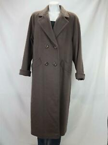 VTG Jofeld Wool Double Breasted Trench Coat Union Made in USA Gray Women's Large