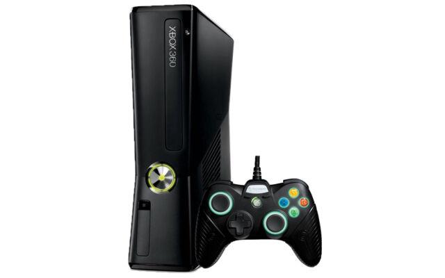 Microsoft Xbox 360 S Slim 250GB Matte Black Video Game Console System Gaming