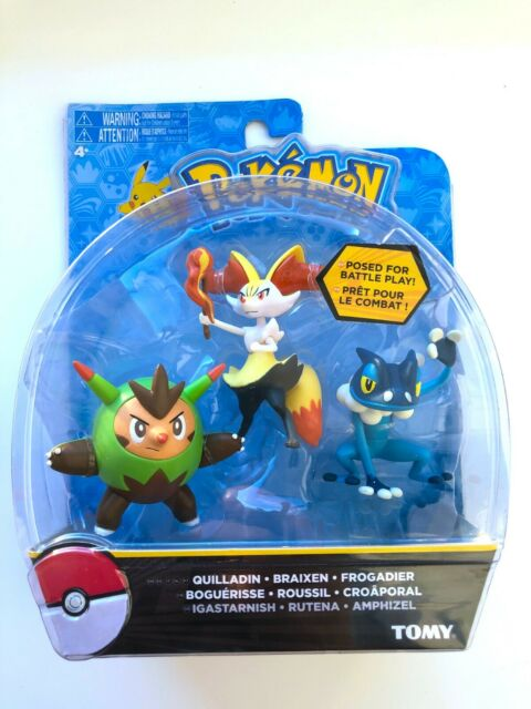 TOMY Pokemon 3 Set Figure Pack QUILLADIN BRAIXEN FROGADIER T18840 Free Shipping