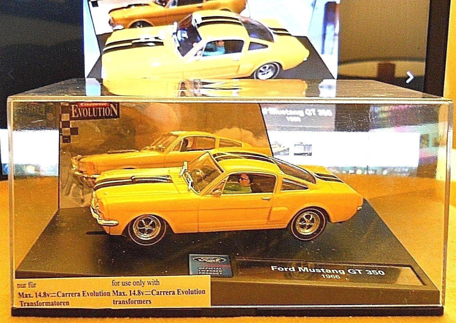 Ranura de coche Cocherera evolution 27148 1966 Ford Mustang GT 350 1 32 en Caja Original
