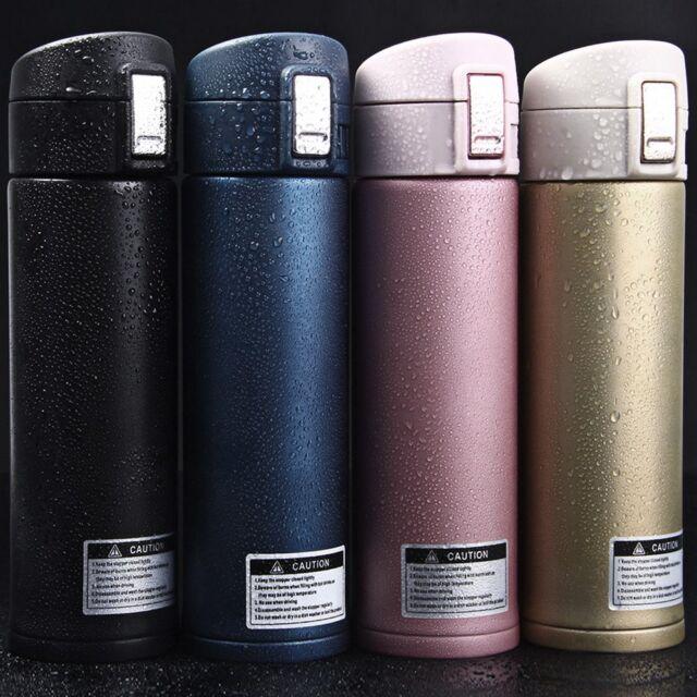 500ML Travel Mug Tea Coffee Water Vacuum Cup Thermos Bottle Stainless Steel
