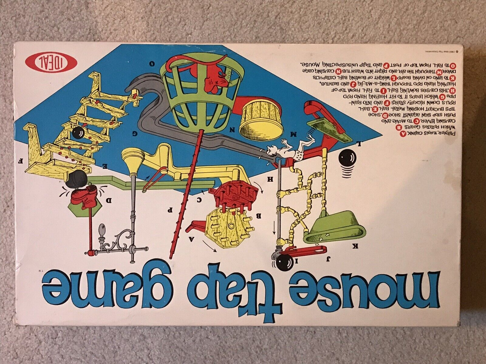 VINTAGE 1963 MOUSE TRAP GAME by IDEAL, FIRST EDITION, COMPLETE, FREE SHIPPING