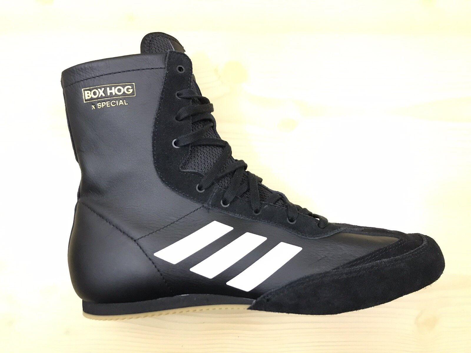 Adidas Box Hog X Special Athletic Black White shoes AC7157 Mens Size 8.5