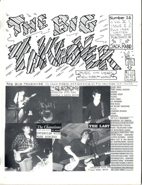 BIG TAKEOVER Magazine No 26 Chameleons The Last The Question My Bloody Valentine