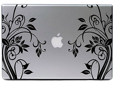 """Apple MacBook Air Pro 13"""" Schnörkel Blume Ranke Aufkleber Sticker Skin Decal 281"""