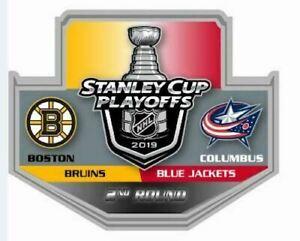 2019-NHL-PLAYOFFS-PIN-2ND-ROUND-BOSTON-BRUINS-COLUMBUS-BLUE-JACKETS-PUCK-STYLE