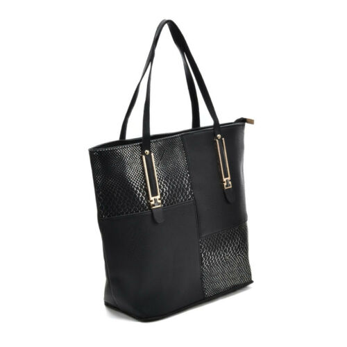 Just In New PU Leather Crocodile Large Tote Handbag Womens Leather Bag