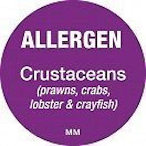 Etiqueta de punto día alérgenos Pegatinas para cumplir con las normas de alergia FIC Abeto