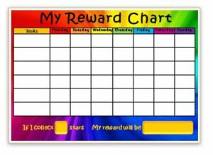 FREE pen//stickers Reward Chart BEHAVIOUR-POTTY-CHORES MAGNETIC POINT SYSTEM