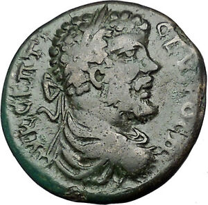SEPTIMIUS-SEVERUS-193AD-Marcianopolis-Tyche-Luck-Ancient-Roman-Coin-i50897