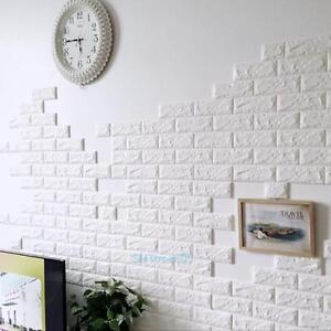 Image Is Loading PE Foam 3D Wallpaper DIY Wall Stickers