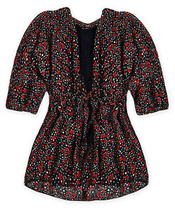 Ladies-Floral-Top-New-Womens-Short-Sleeved-Chiffon-2-In-One-Blouse-UK-8-14-S-M
