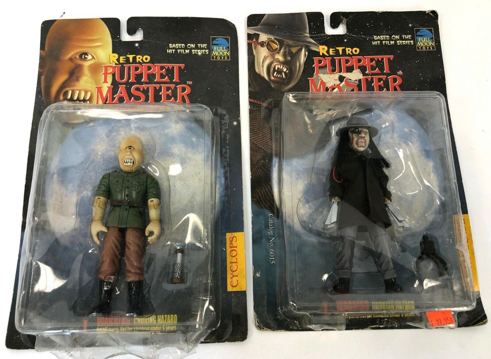 Vintage Pair 1999 Full Moon Juguetes Retro Puppet Master Cyclops Blade Horror Figura
