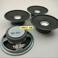 "1pcs 3/""inch 78mm 8Ω 5W waterproof speaker Loudspeaker Home Audio parts 8ohm"