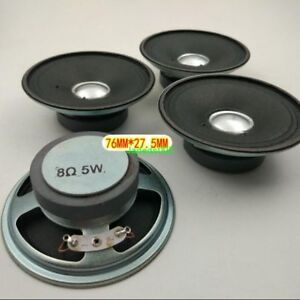 2pcs-3-034-inch-76MM-8-5W-round-Speaker-Loudspeaker-8Ohm-HiFi-Home-Audio-Parts