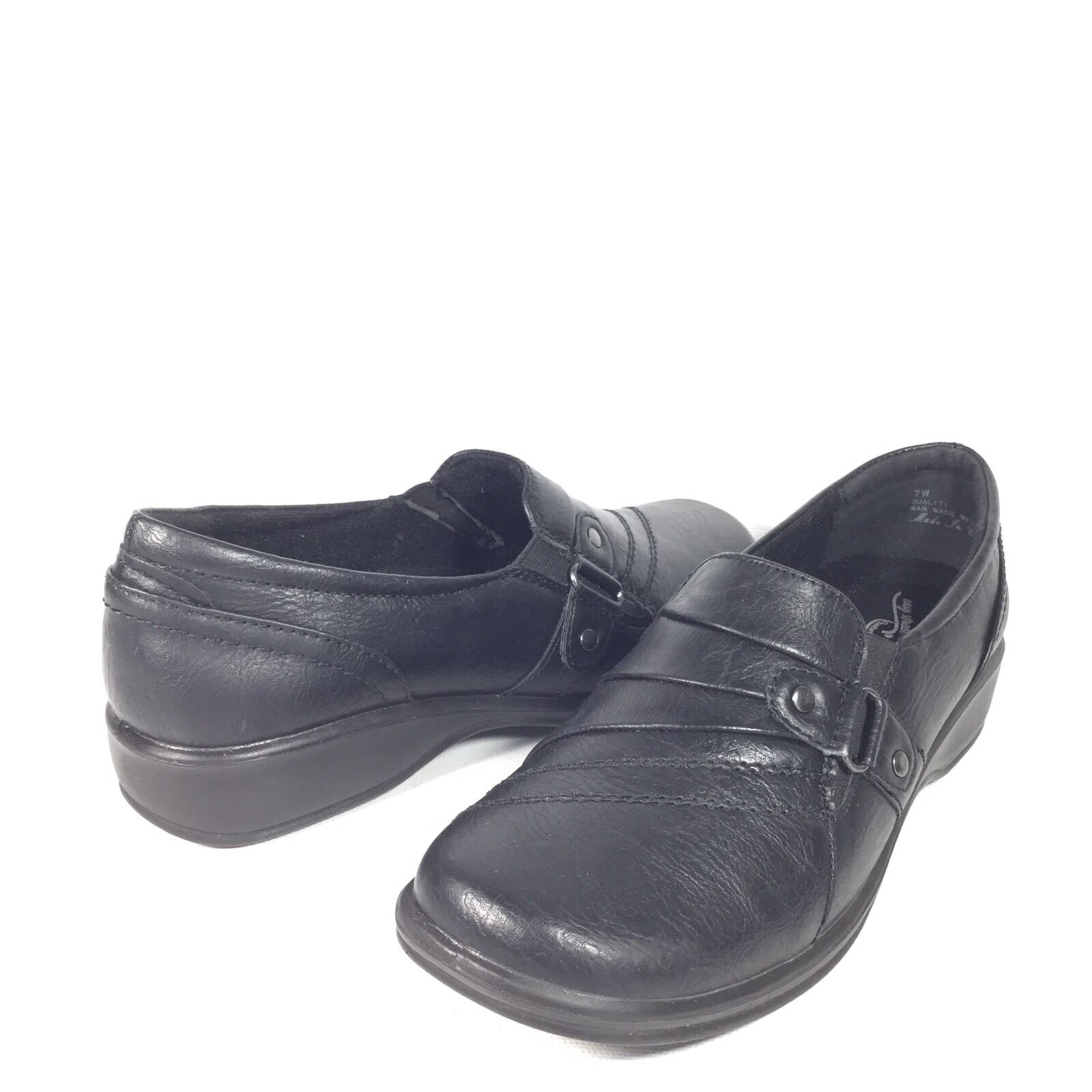 Easy Easy Easy Street Giver Women's Size 7 W Black Slip On Loafers shoes. dbef46