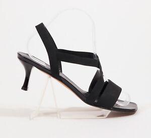 Stuart-Weitzman-Black-Strappy-Sandals-US-9M